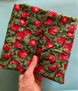 Wow! 1 yard & 11 inches vintage 90s fall apple fancy quilting cotton (GIN bonus: fabric strips)