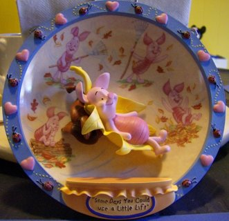 DISNEY Piglet Decorative Plate (please read description)