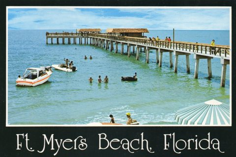 Vintage 4 x 6 Unused Postcard: Ft Myers Beach, FL
