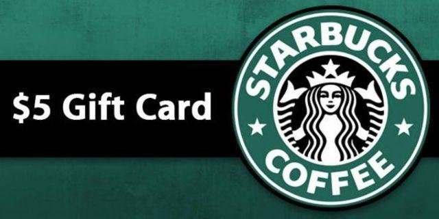 ❤ $5 Starbucks gift card ❤