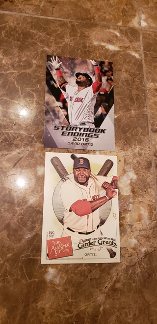 2 david ortiz insert cards