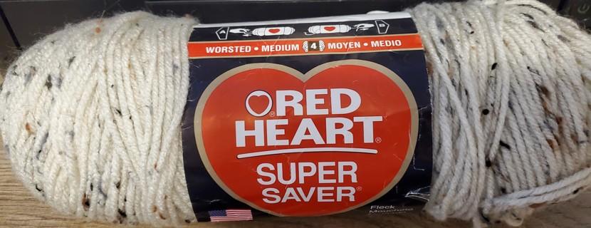 "NEW - Red Heart Super Saver Yarn - ""Aran Fleck"""