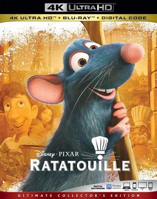Ratatouille (Digital 4K UHD Download Code Only) *Pixar* *Disney* *Patton Oswalt*