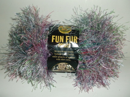 "Brand New FUN FUR ""Eyelash"" Yarn Skein"