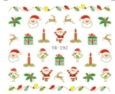 1 sheet christmas water transfer nail decals