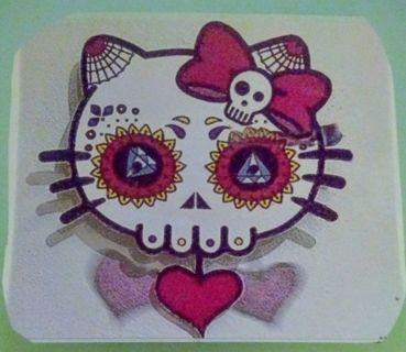 Large Hello Kitty Skull Sticker