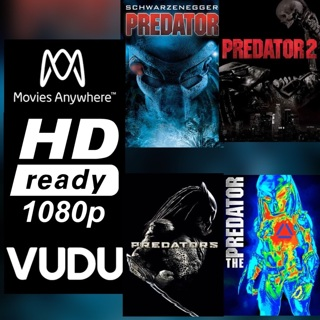 PREDATOR 4 FILM COLLECTION HD MOVIES ANYWHERE OR VUDU CODE ONLY