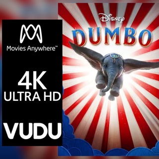 DUMBO LIVE ACTION 4K MOVIES ANYWHERE OR VUDU CODE ONLY