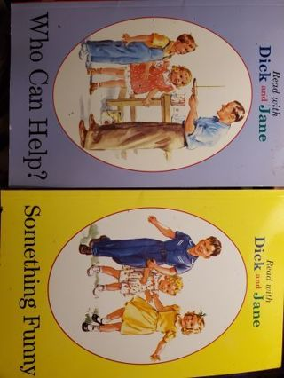 Vintage Grosset & Dunlap books. Fun with dick and jane.