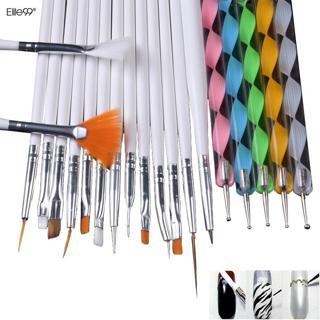 Elite99 20pcs Nail Art Design Set Dotting Painting Drawing Polish Brush Pen Tools Nail Brushes for