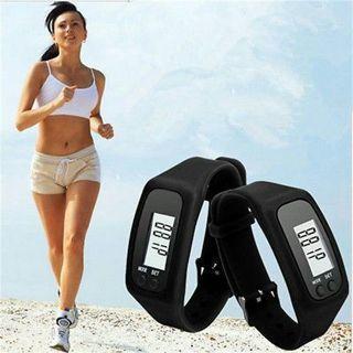 Digital LCD Pedometer Calorie Counter Run Step Walking Distance Bracelet Watch