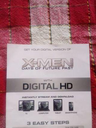 X-Men Days of Future Past VUDU Code