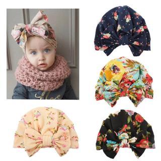 0-4Y Newborn Toddler Kids Baby Girl Flower Hats 2018 Brand New Turban Cotton Beanie Hat Winter Cap