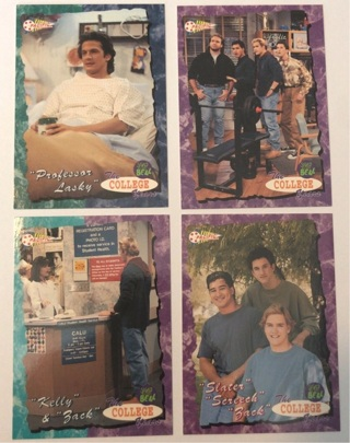 4x Saved by the Bell : The College Years Trading Cards 1994