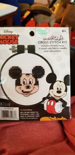 Counted cross stitch kit- Micky Mouse
