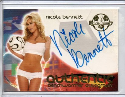 2006 Benchwarmer Nicole Bennett World Cup Autograph