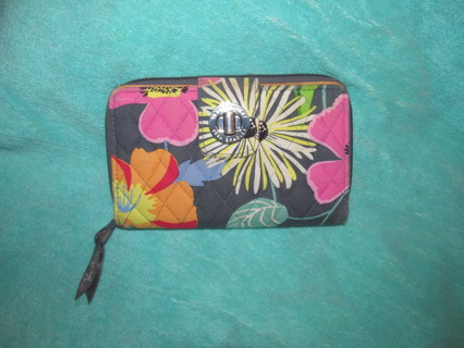 Vera Bradley Turnlock Wallet in Jazzy Blooms