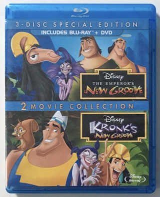 Disney Emperor's New Groove / Kronk's New Groove 2 Movie Collection 3-Disc Special Ed Blu-ray + DVD