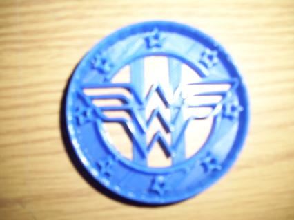 Wonder Woman Logo 1 Cookie Cutter -  (3D Printed Plastic)