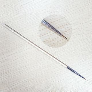 New Nail Art Brush Transparent Handle Ultra Thin Mink Brush Tip 0# Painting Lining Dotting Tools M