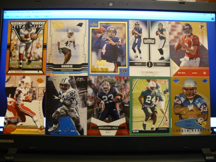 (10) Football Cards Stars, HOFers, Serial #'d or Inserts - LOT 9 - Read Details