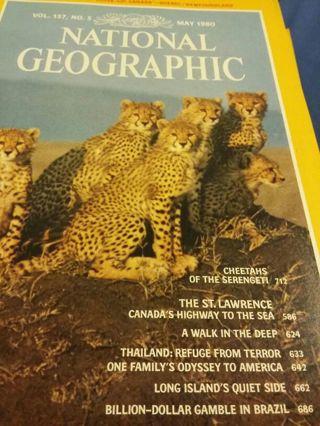 National Geographic Magazine, May 1980, vol 157, no5