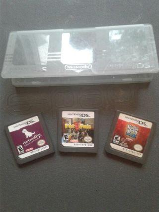 3 Nintendo games w/case