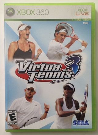 Virtua Tennis 3 Microsoft Xbox 360 (2007) Video Game with Case and Mint Disc!