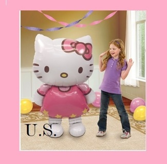 "50"" Large Hello Kitty AirWalker Foil Balloon"