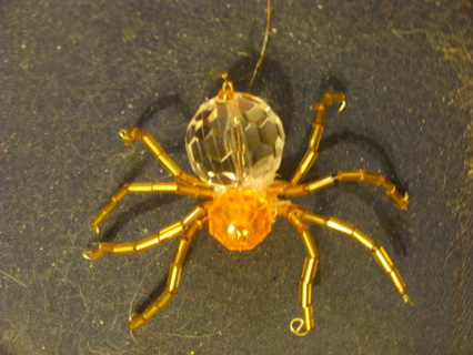 Christmas beaded Spider ornament