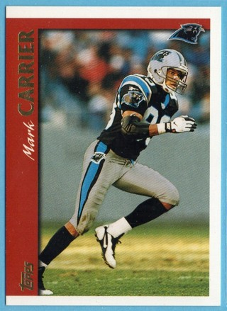 1997 Topps - Mark Carrier WR UER - Panthers
