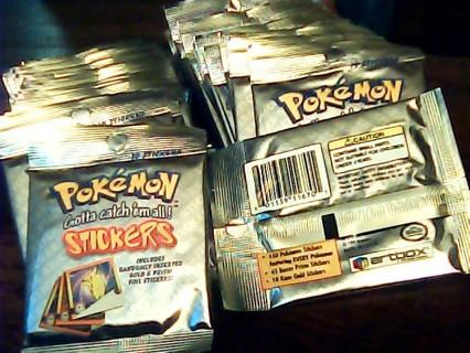 Pokemon Stickers series 1 Artbox 3 packs