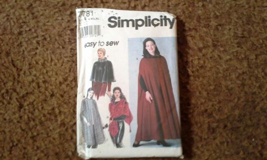 Simplicity Capes and Wrap pattern