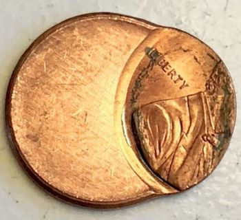OFF CENTER PENNY!  US  MINT ERROR - 75 % OFF CENTER!