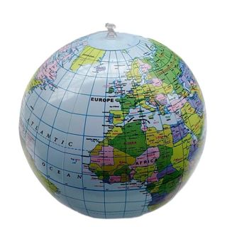 Inflate Globe Map Inflatable Earth World Teacher Beach Ball Geography