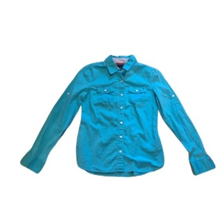 TOMMY HILFIGER Blue Button Up Top Small