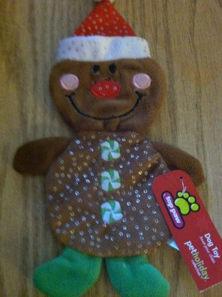 SANTA GINGERMAN CRINKLE TOY - NEW WITH TAGS