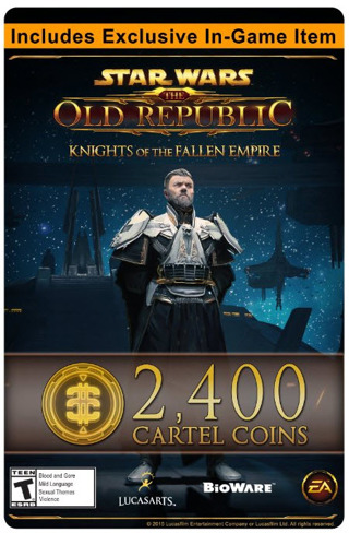 Free: Star Wars: The Old Republic - 2400 Cartel Coins + Exclusive