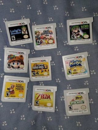 9 Different Nintendo 3Ds Games