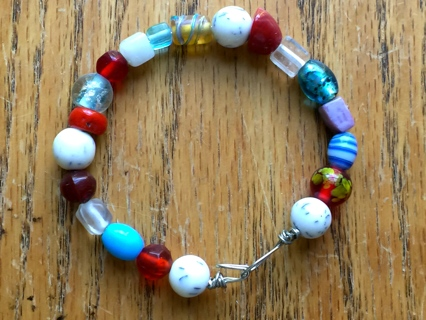 Handmade Multi Colored Glass Beaded Bracelet