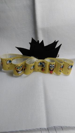 Handmade Sponge Bob Bow