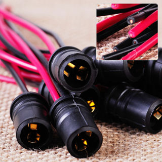 10Pcs Black T10 W5W Light Bulb Socket Holder Soft Rubber Fit For Car Bike Trucks
