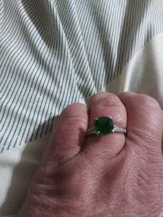 Solitary green gem