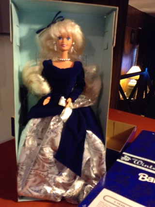 ***Barbie Doll Winter Velvet first in a series an Avon Exclusive 1995***