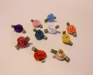Free Assorted Tiny Silk Flowers Scrapbooking Paper Crafts