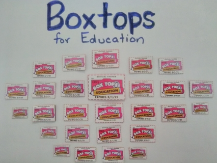 27 Boxtops for Education