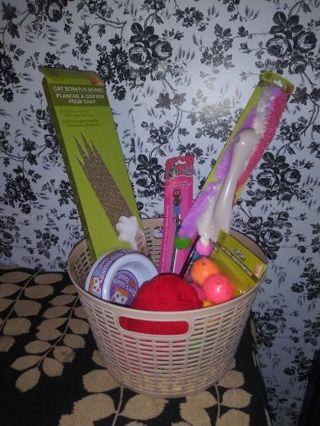 Cat gift basket!