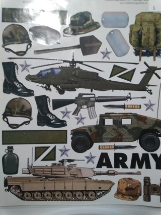 Armed Forces Scrapbooking Stickers