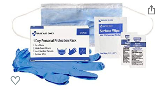 First Aid Only 1-Day Personal Protection Pack (91228)