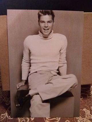 Ricky Martin Photo Post Card Size Trading Card